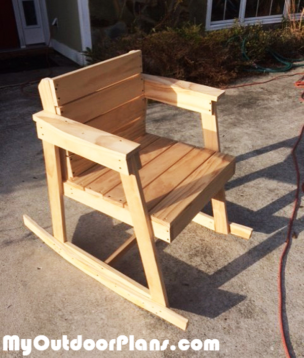 DIY Wood Rocking Chair