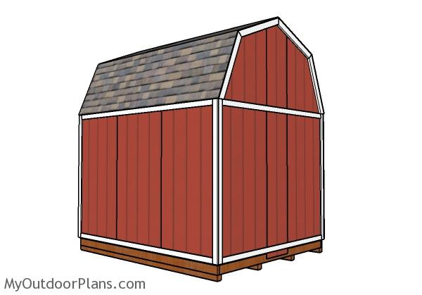 10x12 Barn Shed Plans - Back view