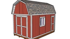 10×16 Gambrel Shed Plans