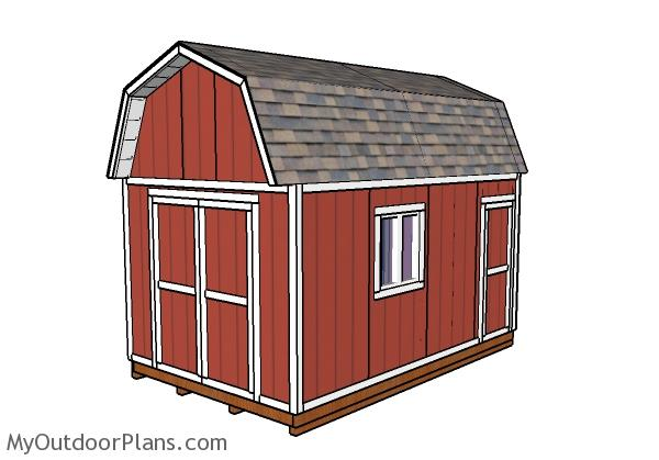 10x16 Gambrel Shed Plans