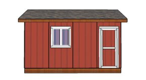 10×16 Shed Doors Plans