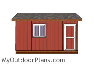10x16 Shed Plans - Side view