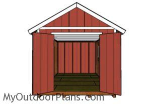 10x20 Shed Plans - Front view