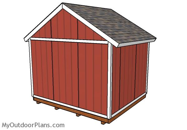 12x10 Shed Plans - Back view