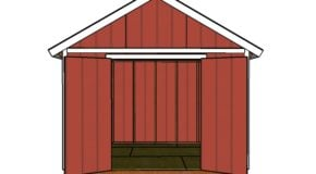 12×10 Shed Door and Trims Plans