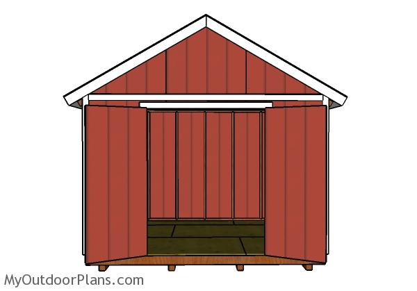 12x10 Shed Door and Trims Plans