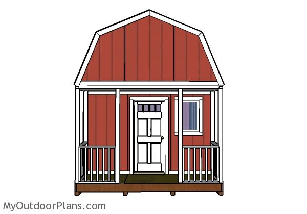 Gambrel Small Cabin Roof Plans Myoutdoorplans Free