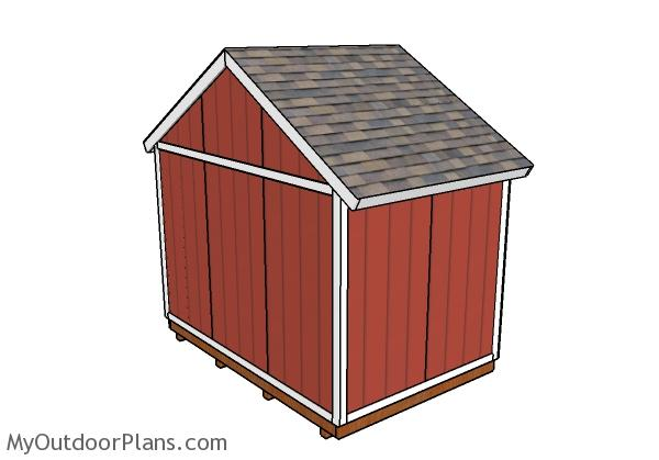 12x8 Shed Plans - Back view