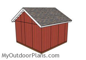 14x14 shed plans - Back view