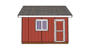 14×14 Shed Doors Plans