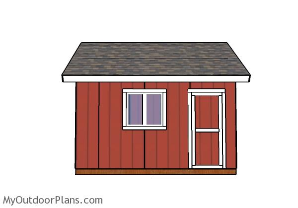 14x14 shed plans - side wall