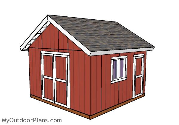 14x14 Shed Plans