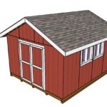 14×16 Gable Shed Doors