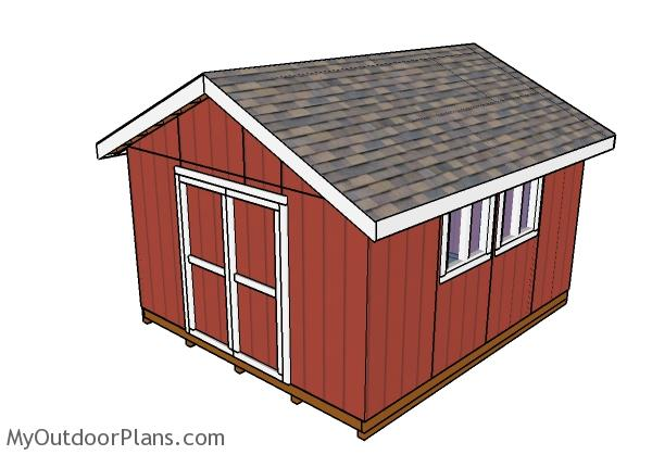14x16 Gable Shed Doors
