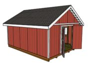 16×20 Shed Plans