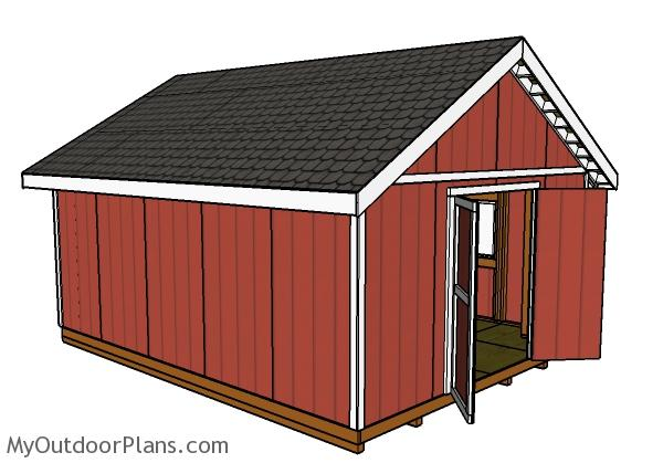 16x20 Shed Plans | MyOutdoorPlans | Free Woodworking Plans and