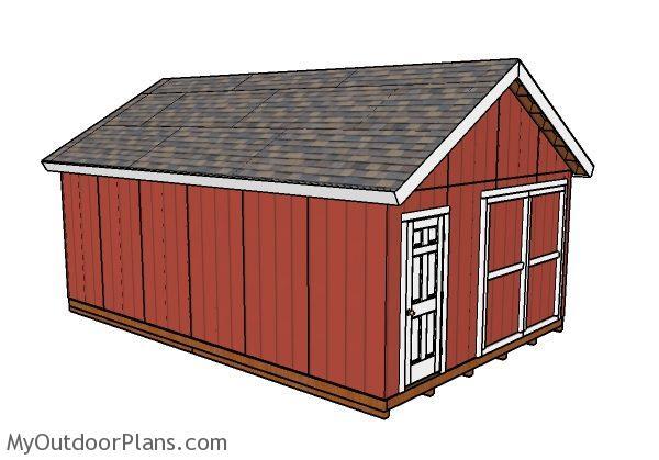 16x24 Shed Plans MyOutdoorPlans – 16X24 Garage Plans