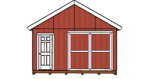 DIY Double Doors for a 16×24 Shed