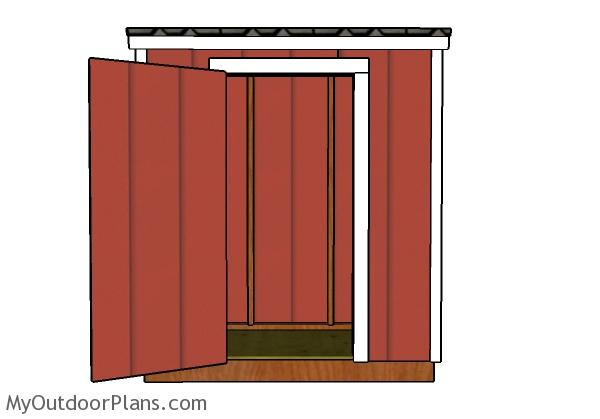 3x6 Lean to shed plans