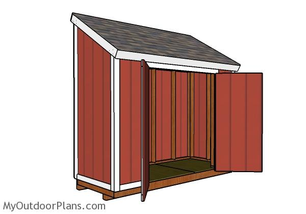 4x10 Lean to Shed Roof Plans | MyOutdoorPlans | Free ...