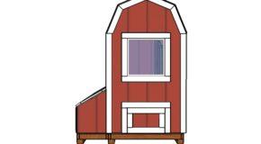 4×8 Barn Chicken Coop Doors Plans