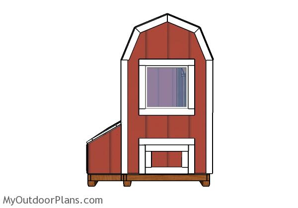 4x8 Barn Chicken Coop Doors Plans