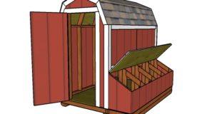 4×8 Gambrel Chicken Coop Plans