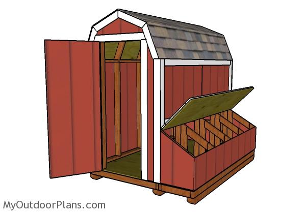 4x8 Gambrel chicken coop plans