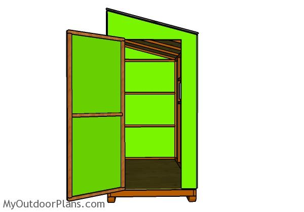 4x8 Ice shanty Plans - Front door