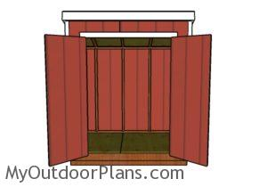5x7 Lean to shed plans