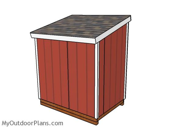 5x7 Shed Plans - Back view