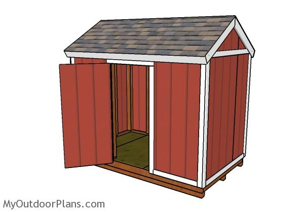 6x10 Gable Shed Plans