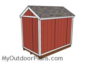 6x10 Shed Plans - Back view