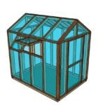 6×8 Wooden Greenhouse Plans