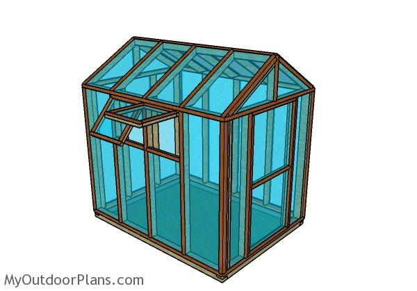 6x8 Wooden Greenhouse Plans