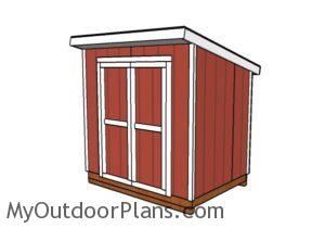 6x8 Lean to shed plans