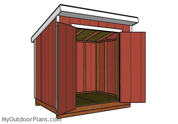 6x8 Lean To Shed Plans Myoutdoorplans Free Woodworking Plans And