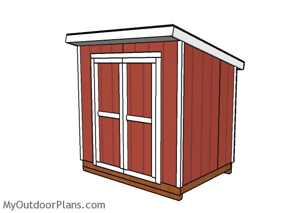 6x8 lean to shed plans myoutdoorplans free woodworking for Lean to plans free