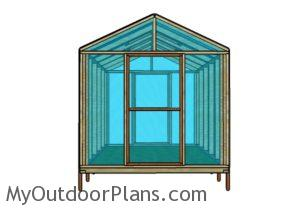 8x10 Greenhouse - Front view