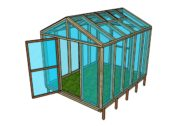 8×10 Wood Greenhouse Plans