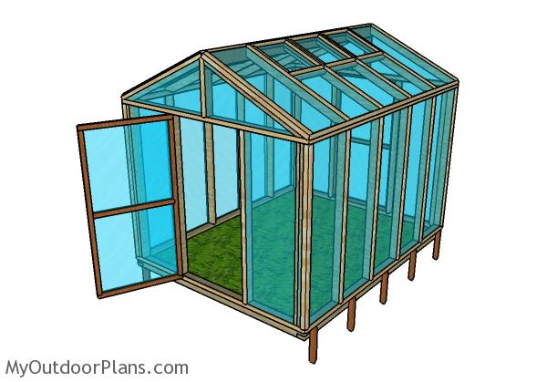 8x10 Wood Greenhouse Plans