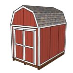 8×12 Barn Shed Plans