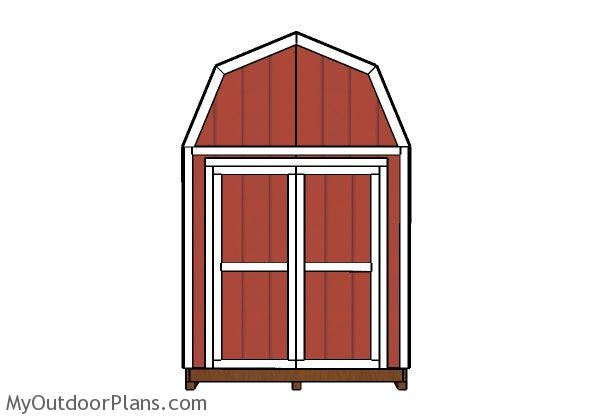 8x12 barn shed double door plans myoutdoorplans free for Double door shed plans