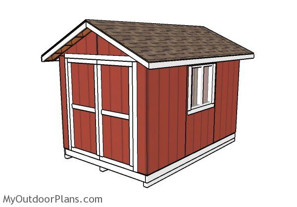 8x12 Shed Plans | MyOutdoorPlans | Free Woodworking Plans ...