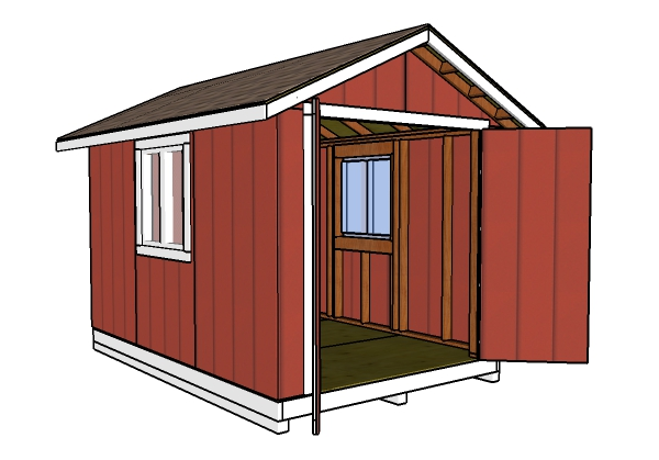 8x12 Shed Plans | MyOutdoorPlans | Free Woodworking Plans and ... Playhouse X With Loft Plans on barn style sheds with loft, yard sheds with loft, 16x20 cabin plan with loft, 14x16 cabin with a loft, one room cabin with loft, 12x12 cabin with sleeping loft,
