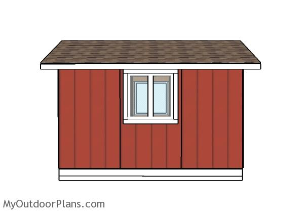 8x12 Shed Plans - Side view