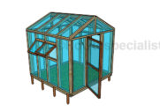 8×8 Greenhouse Plans
