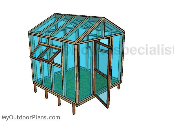 8x8 Greenhouse Plans | MyOutdoorPlans | Free Woodworking Plans and Projects, DIY Shed, Wooden ...