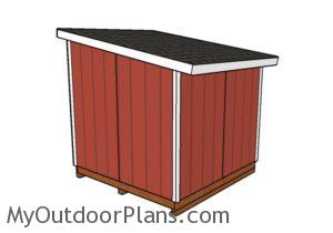 8x8 Lean to shed plans - Back view