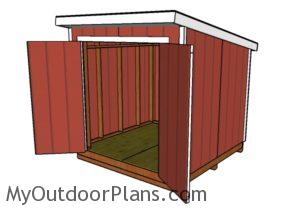 8x8 Lean to shed plans - Front